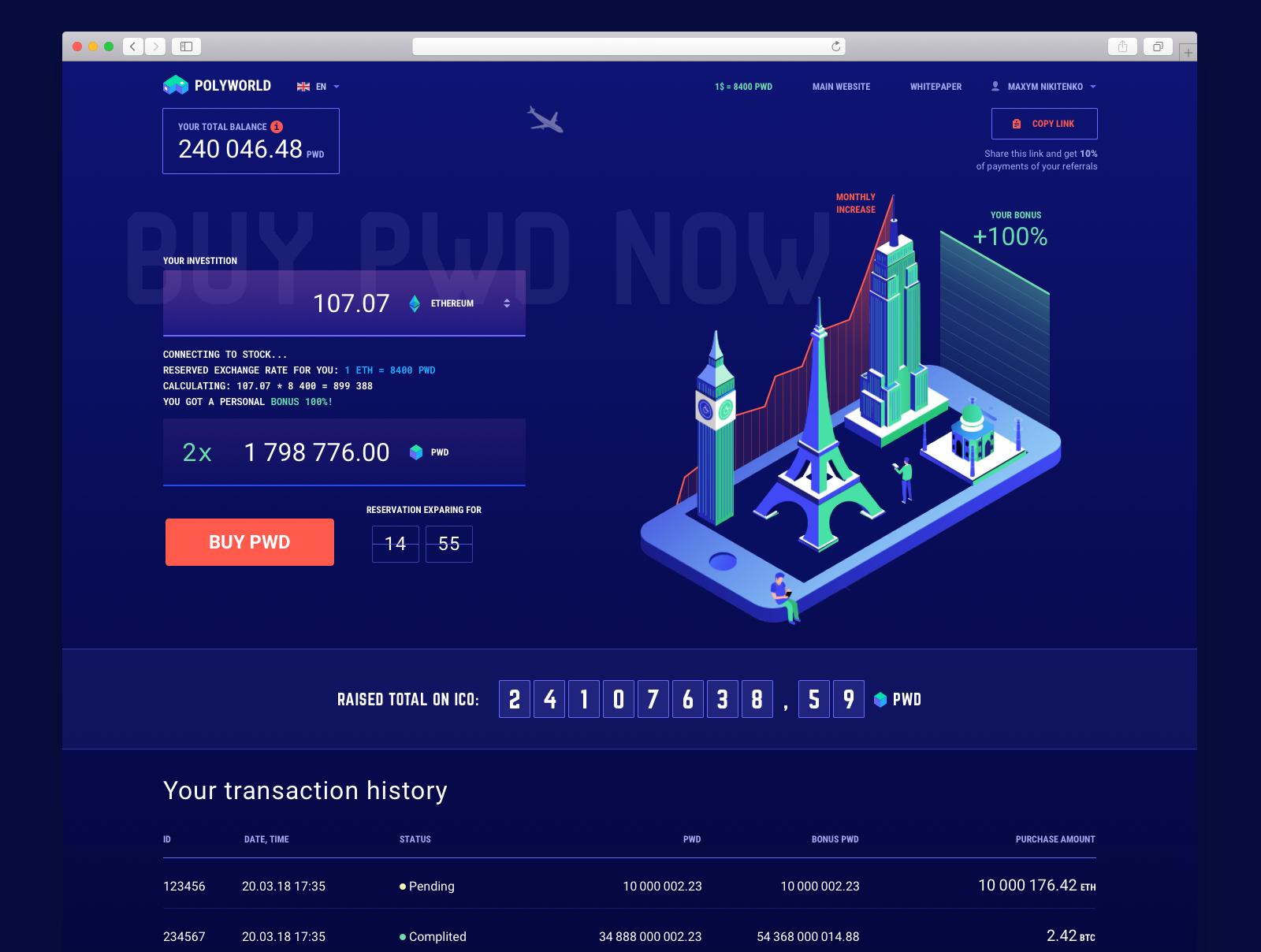blockchain ico webdesign 2