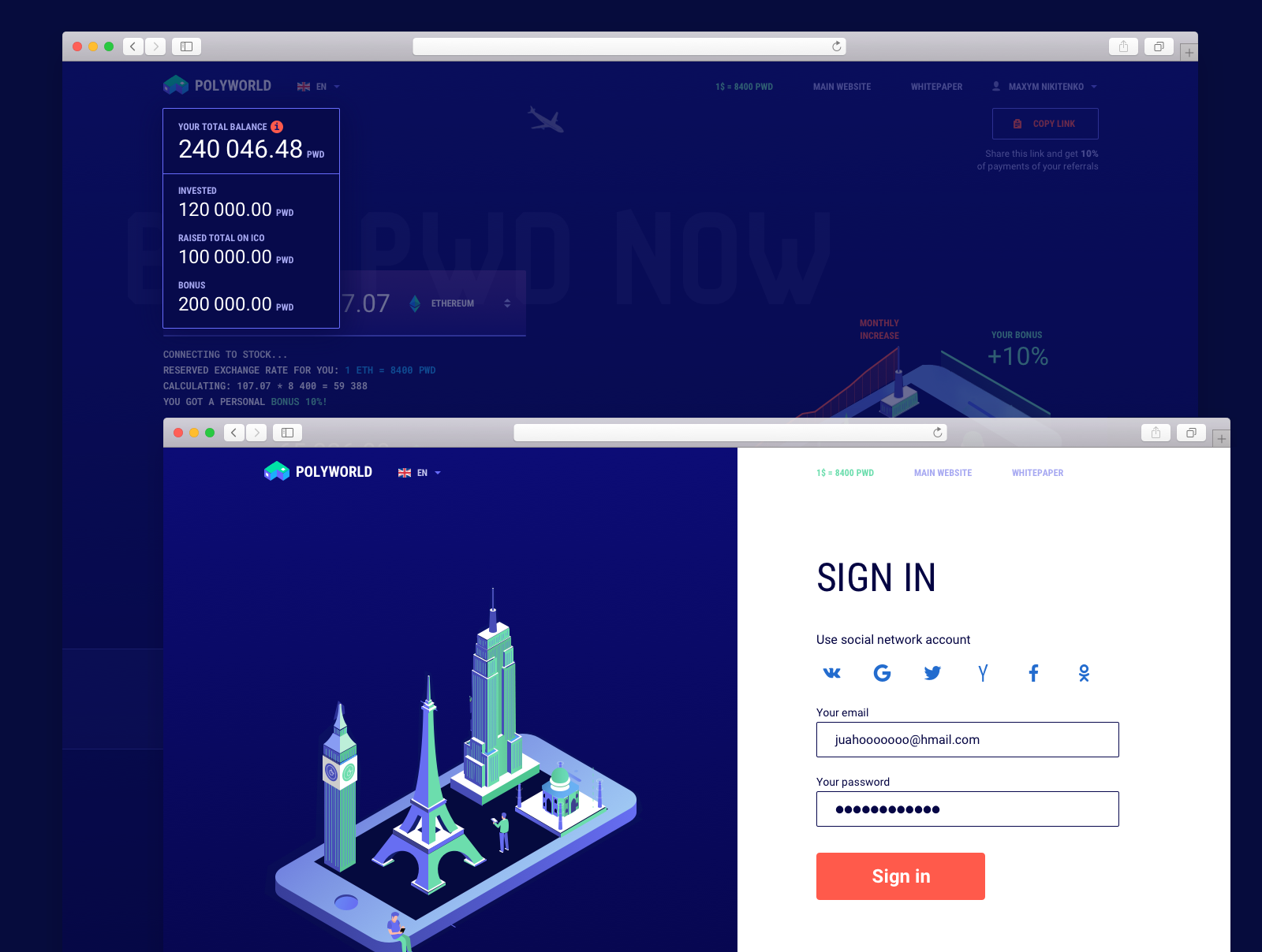 blockchain ico site design 3